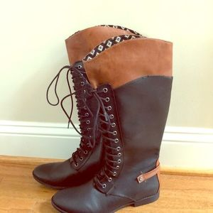 New women's Rocket Dog size 9 black & brown boots